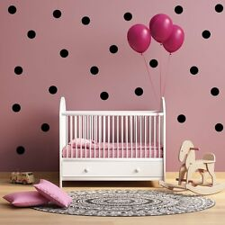 Peel and Stick vinyl Poka dot Wall Decals for Nursery Kids Room free shipping