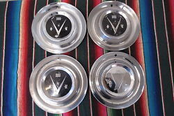 Vintage Hub Caps Set 1953 Buick V8 15 Wheel Covers Hubcaps Roadmaster Special