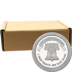 Liberty Bell Stackables 1oz .999 Silver Medallion (500 pc)