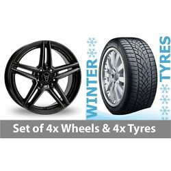 4 X 20 Wolfrace M10 Black Alloy Wheel Rims And Tyres - 265/35/20
