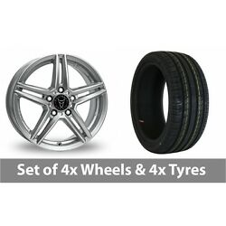4 X 20 Wolfrace M10 Silver Alloy Wheel Rims And Tyres - 255/40/20
