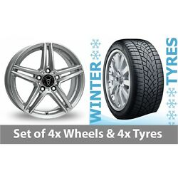 4 X 20 Wolfrace M10 Silver Alloy Wheel Rims And Tyres - 265/35/20
