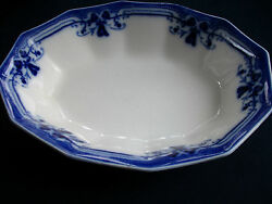 Johnson Brothers Royston-flow Blue C.1910+ Serving Bowl- Excellent Beautiful