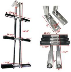 Pactrade Marine 3 Step Stainless Steel Telescopic Boat Dive Ladder