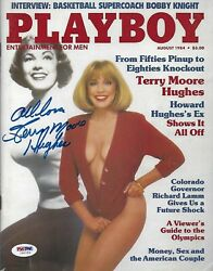 Terry Moore Hughes Signed August 1984 Playboy Magazine Psa/dna Coa Autograph Omg
