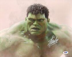 Eric Bana & Stan Lee Signed HULK 11x14 Photo PSADNA COA Incredible Auto Picture