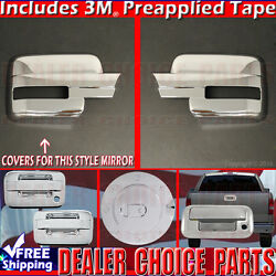 2009-2014 F150 Chrome Gas Door Handle W/o Kp, Psk 2dr F Mirror Tailgate Covers
