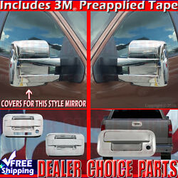2009-2014 F150 Chrome Door Handle W/kp W/opsk 2dr Tow Mirror Tailgate Covers