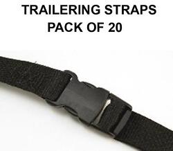 Pack Of 20 Trailering Straps For 9 Oz Custom Fit Boat Cover- 7' In Length