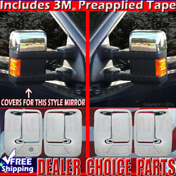 2008-2016 Ford F250 F350 Superduty Chrome Door Handle Covers 4dr 1kh+mirrors H