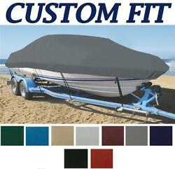 9oz Custom Exact Fit Boat Cover Smoker-craft 185 Tracer W/ Rails 2006