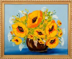 View Flowers 2018 Artist Tanya Blons Canvas Oil 22 X 28 7/8and039 Value 3000