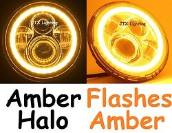 1pr 7 Led Headlights Amber Flashes Amber When Turning Land Over Series 1 2 2a 3