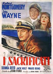 They Were Expendable - Original Italian Poster - Very Rare