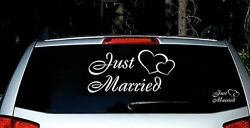 Just Married Vinyl Car Decal Sticker Custom Personalized Wedding Decor Sign
