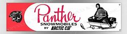 Vintage Arctic Cat Panther Large Long 8 Foot Banner Reproduction