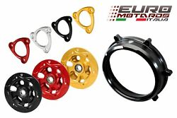 Cnc Racing Blk Clutch Cover+spring Retainer+pressure Plate For Ducati Panigale