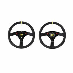 Omp 320 Uno Race / Rally / Road Car Steering Wheel Suede 320mm With Horn Push