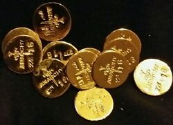 3 1 Gram Bar Usa Bullion 1g 22k Placer Gold Rounds From Mine Y Lot 182 Anarchy