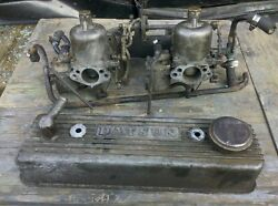 1966 67 68 Datsun 1600 Roadster 2 Carbs Setup With Valve Cover
