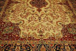 C1940s Antique Signed By Master Weaver Kirman Rug 9.3x12 Room Size