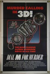 Dial M For Murder Ff Orig 1sh Movie Poster Alfred Hitchcock Rr82 1954