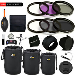 Pro 58mm Accessories Kit W/ Filters + More F/ Canon Eos T1i