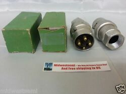 2x Russell And Stoll Re-20097 Ever -lok Male Plug Pin Connector Freeshipsameday