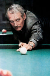 Paul Newman As Fast Eddie Felson Lining Up Cue The Color Of Money 11x17 Poster