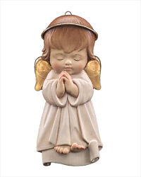 Lepi 5.5 Guardian Angel Hanging - Hand Carved And Painted In Italy - White