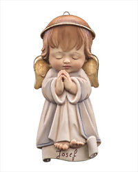 Guardian Angel By Lepi Woodcarvings - Carved Of Solid Wood - Oil Paints - Alpine