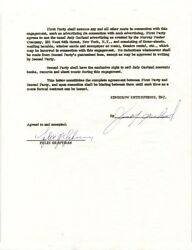 JUDY GARLAND - DOCUMENT SIGNED 07/21/1961 CO-SIGNED BY: FELIX GERSTMAN