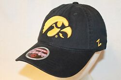 Iowa Hawkeyes Hat Cap The Game Day Relaxer Cap Hawk  By Zephyr Ncaa Caps