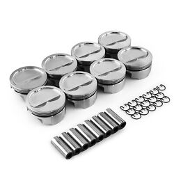 Chevy 400 427 Ford 351w Windsor 4.125 1.015 Dished -16cc Forged Pistons