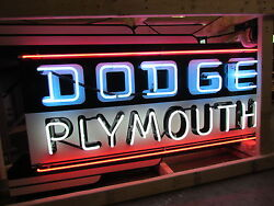 New Dodge/Plymouth Double-Sided Sign with Neon 72