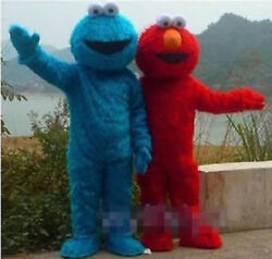 New Sesame Street Elmo Cookie Monster Adult Mascot Costume Suit Outfit Clothing