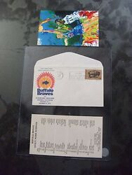 Very Rare 1970 Buffalo Braves Nba Basketball 1st Day Cover And Schedule W/ Picture