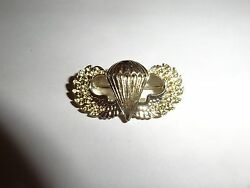 Genuine Full Size Us Military Medal Parachute Jump Wings Older Airborne Gold Col