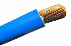 Welding Cable Blue 2 Awg Gauge Copper Wire Sae J1127 Car Battery Solar Power