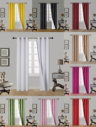 1 Set 100 Blackout Thermal Window Curtain Panel Lined Eclipse In 63 Aaa