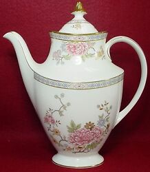 Royal Doulton China Canton H5052 Pattern Coffee Pot And Lid