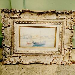 Antique French Impressionist Painting As Found Unsigned Mystery