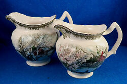 Johnson Brothers Friendly Village Two Pitchers - Made In England