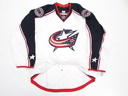 Columbus Blue Jackets Away Authentic Team Issued Reebok Edge 2.0 7287 Jersey 56