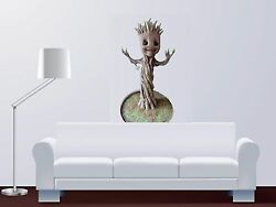 Wall Baby Groot Guardians of Universe Sticker Large lifelike Child Vinyl Decal
