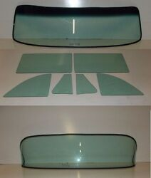 1953 1954 Chev 2 Door Sedan Windshield Vent Door Quarter Rear Back Glass Set GT