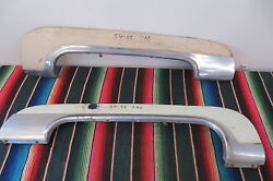 1954 1955 Cadillac Feetwood Rear Fender Skirts With Trim Molding Solid Original