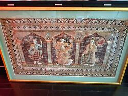 Large Kalaga Tapestry - Embroidery Beads Sequins - Thailand Burma