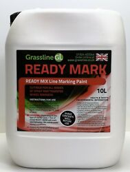 3 X 10 Litres Ready To Use Grassline White Ready Mark Pitch Line Marking Paint