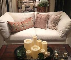 New Pottery Barn Air Collection 88 Down Sofa And Ottoman Supersoft-lofty Cushions